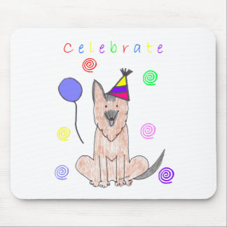German Shepherd Dog Celebrate Mouse Pad