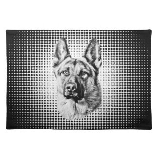 German Shepherd dog Cloth Placemat