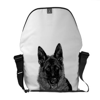 German Shepherd dog Courier Bag