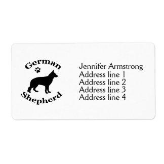German Shepherd dog custom address labels