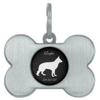 German Shepherd dog custom name phone no. dog id Pet Name Tag