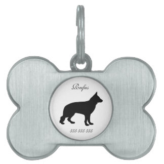 German Shepherd dog custom name phone no. dog id Pet Tag