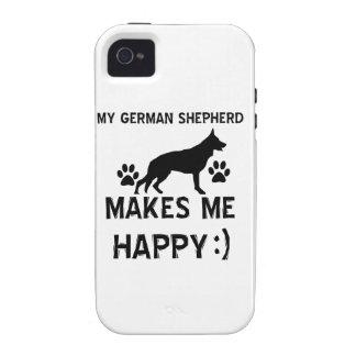 German Shepherd dog designs Case-Mate iPhone 4 Case