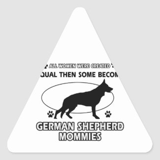 German Shepherd dog designs Triangle Sticker