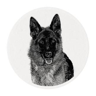 German Shepherd dog Edible Frosting Rounds