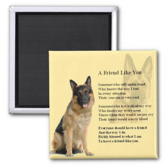 German Shepherd Dog - Friend Poem Magnet | Zazzle.com