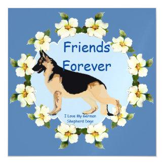 German Shepherd Dog, Friends Forever Magnetic Card