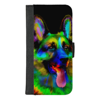 German Shepherd dog - GSD Portrait iPhone 8/7 Plus Wallet Case