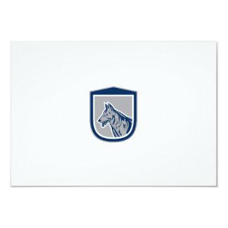 German Shepherd Dog Head Shield Woodcut Custom Invitation