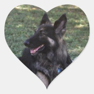 German Shepherd Dog Heart Sticker