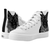 German Shepherd dog high top tennis shoes