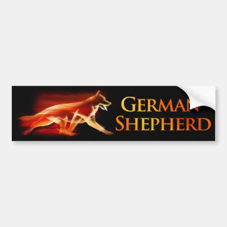 German Shepherd Dog in Motion Bumper Sticker