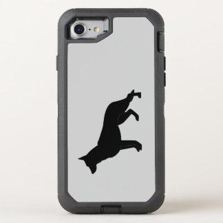 German Shepherd Dog in Silhouette OtterBox Defender iPhone 8/7 Case