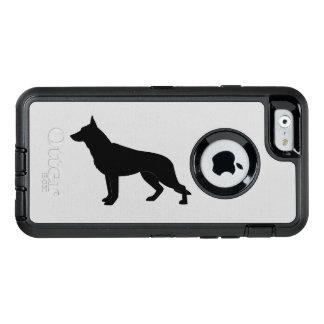 German Shepherd Dog in Silhouette OtterBox Defender iPhone Case