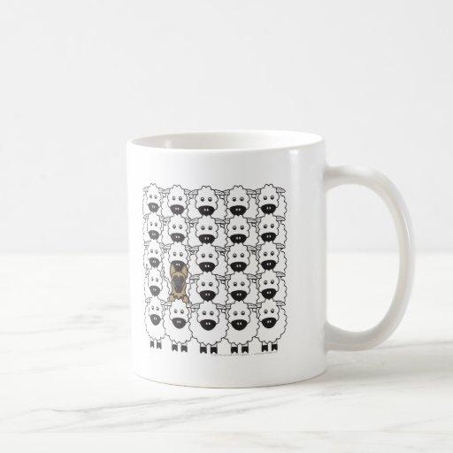 German Shepherd Dog in the Sheep Classic White Coffee Mug
