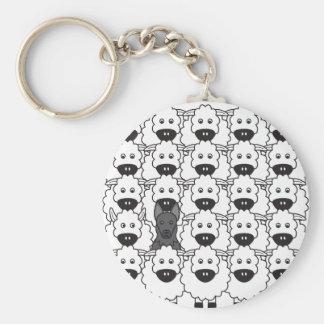 German Shepherd Dog in the Sheep Keychain