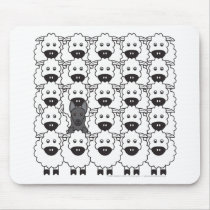 German Shepherd Dog in the Sheep Mouse Pad