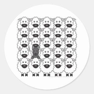 German Shepherd Dog in the Sheep Round Sticker