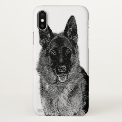 iPhone X Case with German Shepherd Phone Cases design