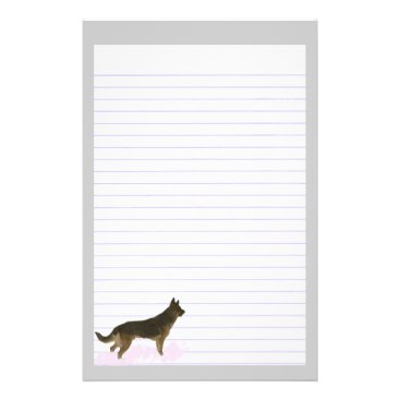 Professional Business German Shepherd Dog Lined Stationery