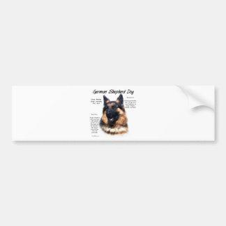 German Shepherd Dog (longhair) History Design Bumper Sticker