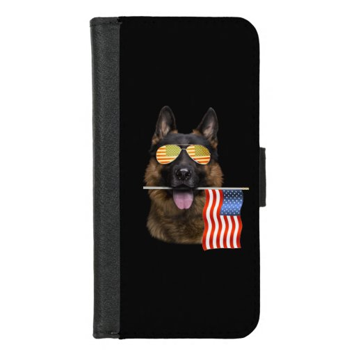 German Shepherd Dog Lover Gift iPhone 8/7 Wallet Case