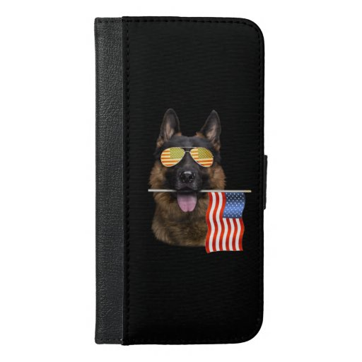 German Shepherd Dog Lover Gift iPhone 6/6s Plus Wallet Case