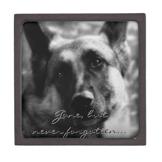 German Shepherd Dog Memorial Gift Box