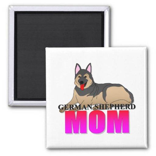 German Shepherd Dog Mom Refrigerator Magnet