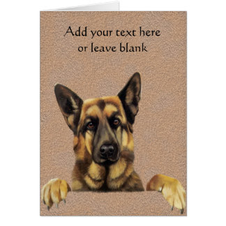German Shepherd Dog Note card, Thank you cards