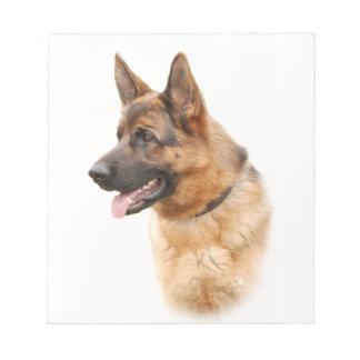 German shepherd dog notepad