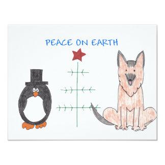 German Shepherd Dog Peace On Earth Card