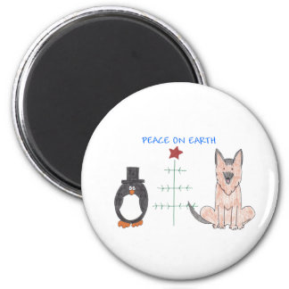 German Shepherd Dog Peace On Earth Magnet