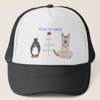 German Shepherd Dog Peace On Earth Trucker Hat