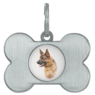 German shepherd dog pet ID tag