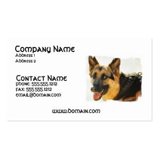 German Shepherd Dog Photo Business Card