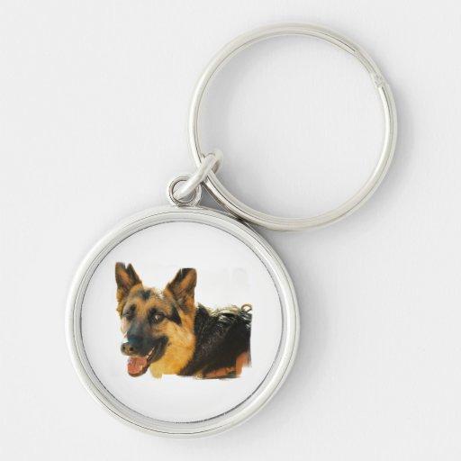 German Shepherd Dog Photo Keychain