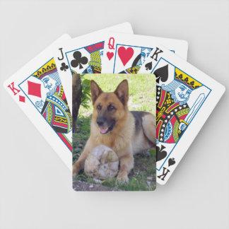German Shepherd Dog Playing Cards