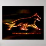 German Shepherd Dog - poetry in motion Poster