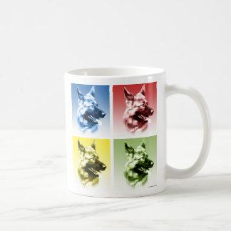 German Shepherd Dog Pop Art Coffee Mug