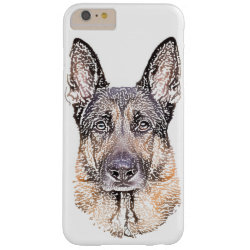 42bf93e5cf German Shepherd Dog Portrait of Man's Best Friend Barely There iPhone 6  Plus Case