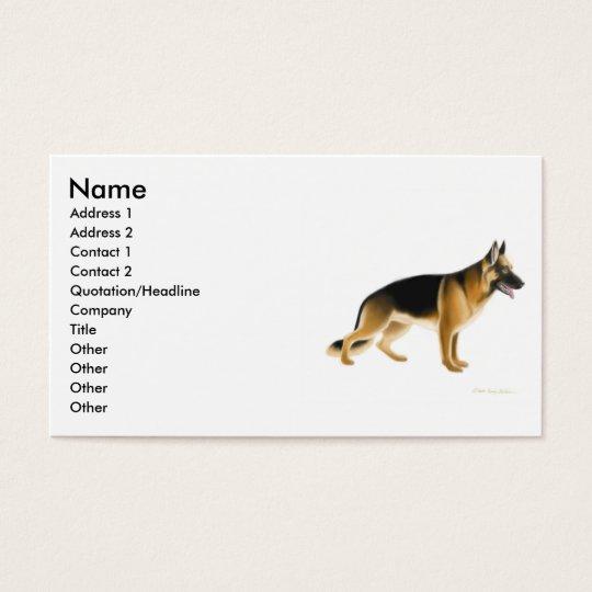 German Shepherd Dog Profile Card