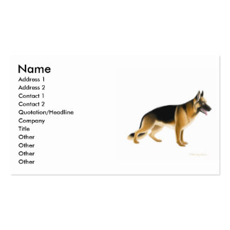 German Shepherd Dog Profile Card Double-Sided Standard Business Cards (Pack Of 100)