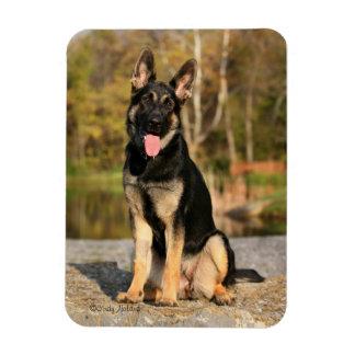 German Shepherd Dog puppy magnet