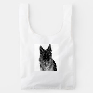 German Shepherd dog Reusable Bag