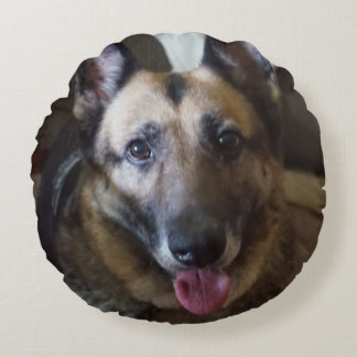 German Shepherd Dog Round Pillow