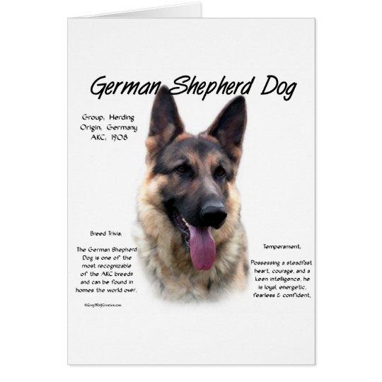 German Shepherd Dog (sable) History Design Card