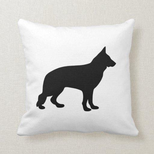 German Shepherd dog silhouette cushion pillow