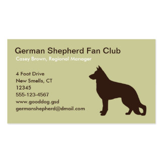 German Shepherd Dog Silhouette Double-Sided Standard Business Cards (Pack Of 100)