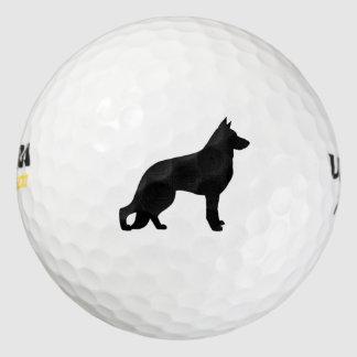 German Shepherd Dog Silhouette Pack Of Golf Balls